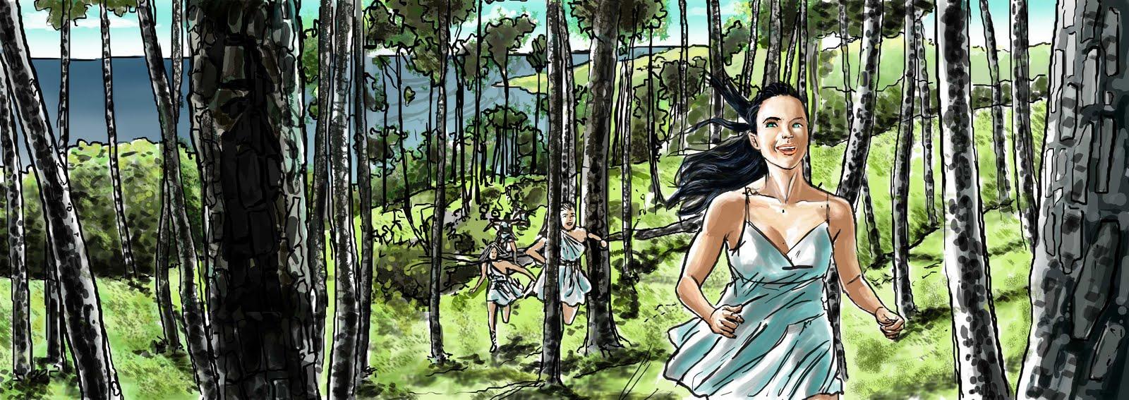 Wonder Woman Storyboards by Cesar Lemus